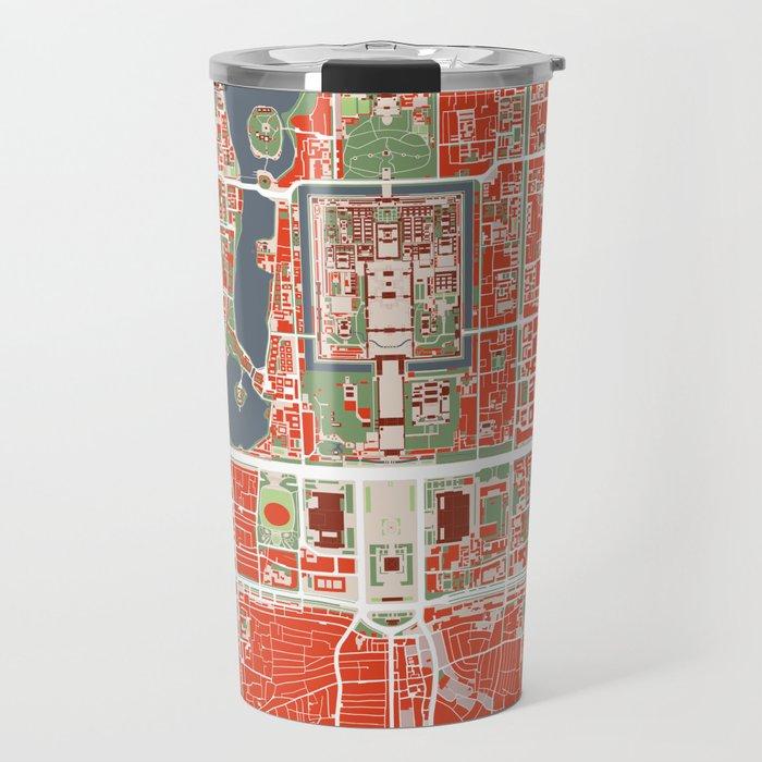 Beijing city map classic Travel Mug
