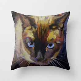 Seal Point Siamese Throw Pillow