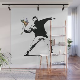 Banksy Flower Thrower Wall Mural