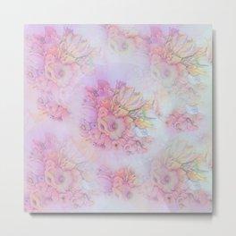 Flowers in pastels Metal Print