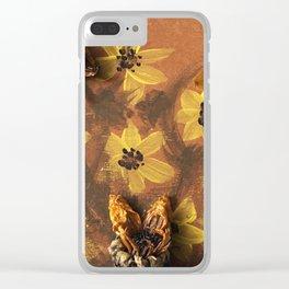 Sunflower Garden Artwork Clear iPhone Case
