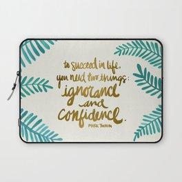 Ignorance & Confidence #1 Laptop Sleeve
