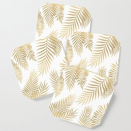 Gold palm leaves Coaster