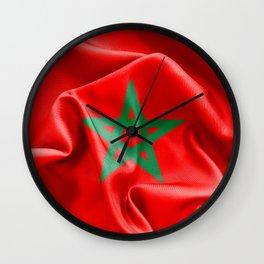 Morocco Flag Wall Clock