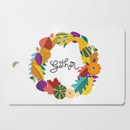 Gather Fall Wreath Cutting Board