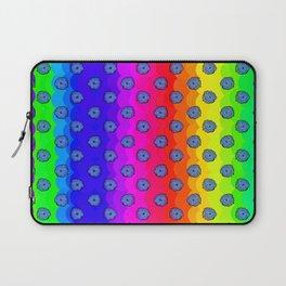 Rainbow and blue flowers Laptop Sleeve