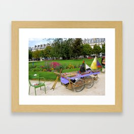 Tuileries Garden Boat Rental Framed Art Print