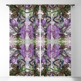 Psychedelic Positive Notes Lavender Zoom Blackout Curtain