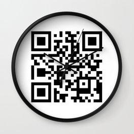 QR Code Wall Clock