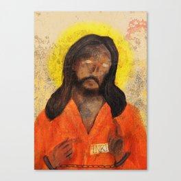 Jumpsuit Jesus Canvas Print