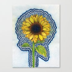 Sunflower Drawing Meditation - with background Canvas Print
