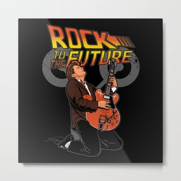 Rock to the Future Metal Print