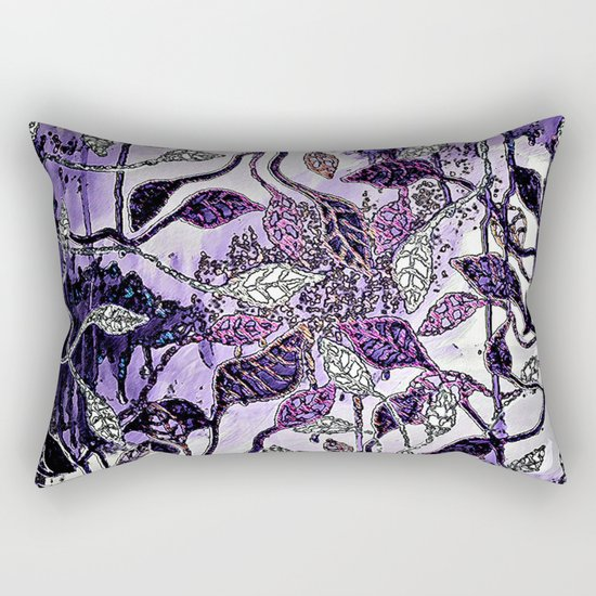 Interlaced Leaves Rectangular Pillow