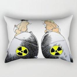 donald trump vs kim jong un Rectangular Pillow