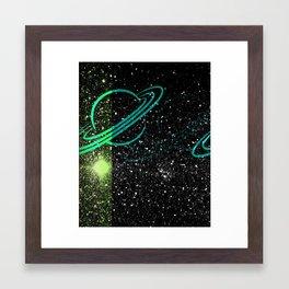 Flash Star Framed Art Print
