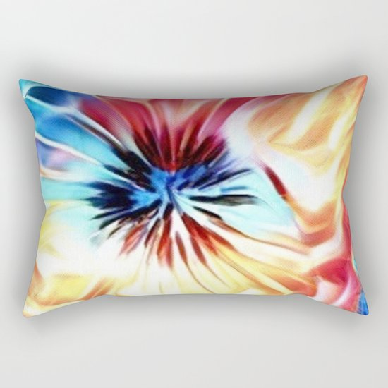 Circular Abstract Rainbow Rectangular Pillow
