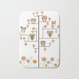 Owl Find Out Who Bath Mat