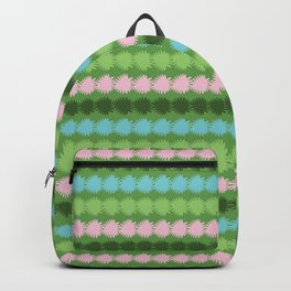 Geometric Stripes Vector Pattern Hand Drawn Background, Retro Color Backpack