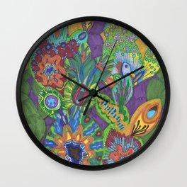 Succulent Medley Wall Clock
