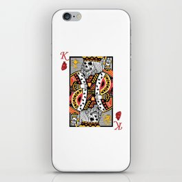Horror Skeleton King Playing Card Picture iPhone Skin