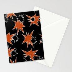 Stars (Orange & Black on Black) Stationery Cards