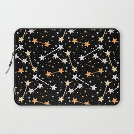 Night sky with gold silver stars Laptop Sleeve
