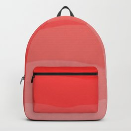 Red Strawberries and Cream Ombre Backpack