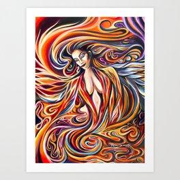 Phoenix Goddess Rising Art Print