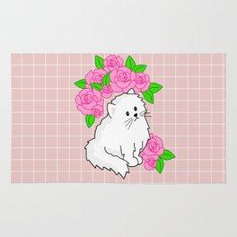rose kitty grid Rug