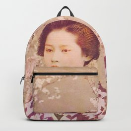 Royal Tokyo Geisha - Watercolor Vintage Graphic Backpack
