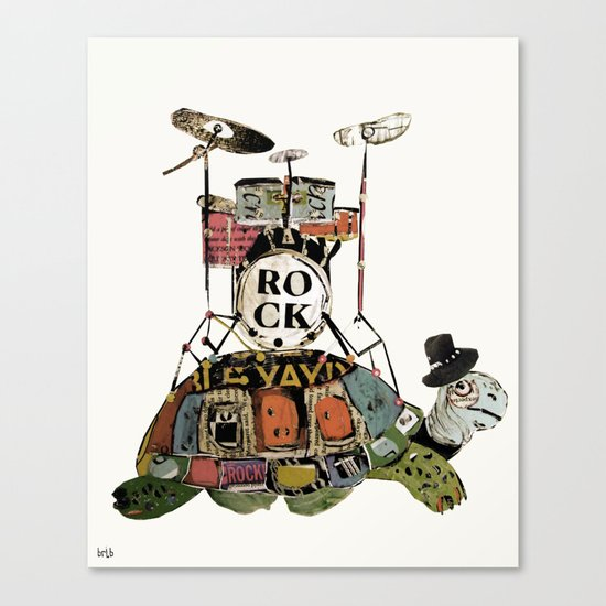 rock turtle Canvas Print