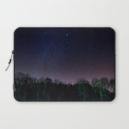 Star Night Sky Purple Hes With Forest Silhouette Laptop Sleeve