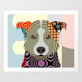 Border Collie Art Print