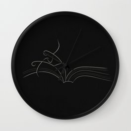 The Beginning Pages of Romance Wall Clock