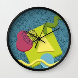 Neo Memphis Fun Face Wall Clock