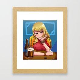 Samus at the Bar Framed Art Print