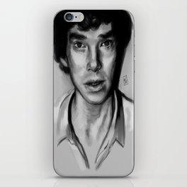 Sherlock bw iPhone Skin