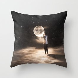 HOLD THE MOON Throw Pillow