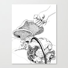 Mushroom Hunters Canvas Print
