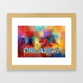 Sending Love To Orlando Framed Art Print