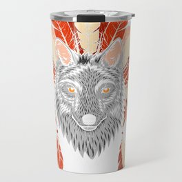 Indian Native American Wolf History Product Travel Mug