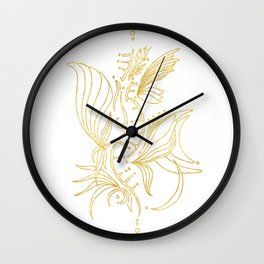 (SH)elixir blanc Wall Clock