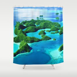 Glimpses of Heaven: Palau 70 Islands In Micronesia Shower Curtain