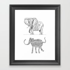 two ways to see one elephant Framed Art Print