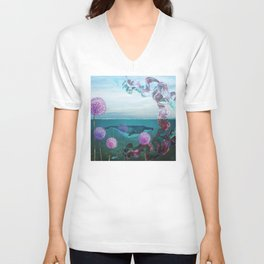 A Rising Tide Unisex V-Neck