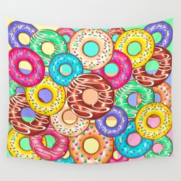 Donuts Punchy Pastel flavours Pattern Wall Tapestry