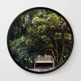 The Reading Bench & The Croton Tree Wall Clock