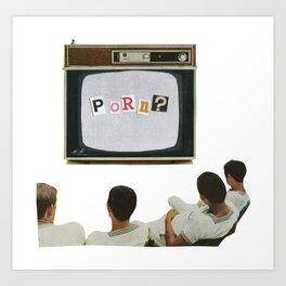 Daytime TV. Art Print