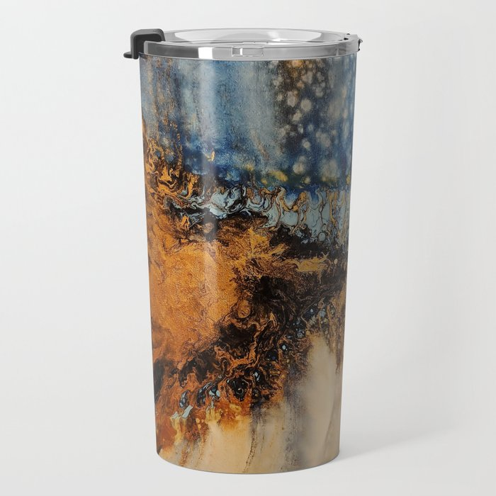 Copper Blue Serenade Travel Mug