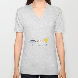Some Coffee + Some Thinking = Some Great Ideas Unisex V-Neck